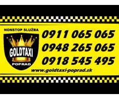 Goldtaxi Poprad - taxi pre Tatry